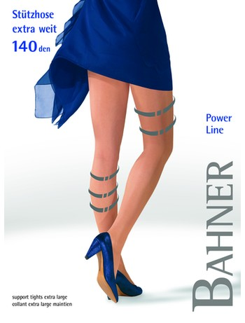 Bahner Power Line 140 Extra Wide Plus Size Tights