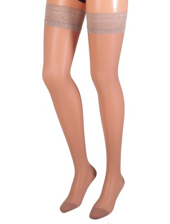 Bahner Classic Line Support Stay-Ups taupe