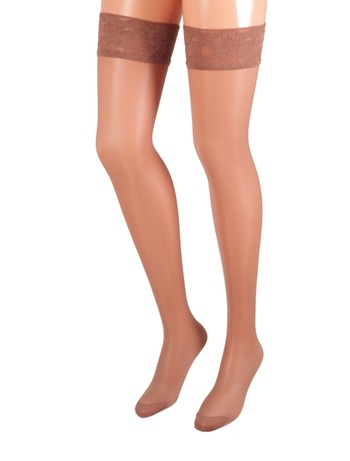 Bahner Young Line Support Stay-Ups taupe