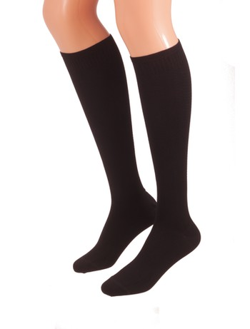 Bahner Power Line Support Knee High Socks Compression 3 nearlyblack