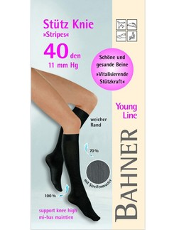 Bahner Young Line 40 Striped Compression Knee High Socks