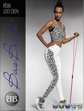 Bas Black Irbis - Leggings white+multicolor