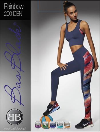 Bas Black Rainbow - Leggings blue+multicolor