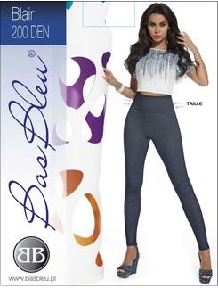 Bas Bleu Blair soft Leggings with Jeans-Optic