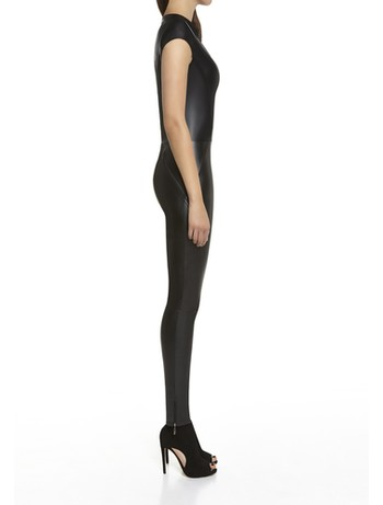 Bas Bleu Enya Latex Short-Sleeved Suit black