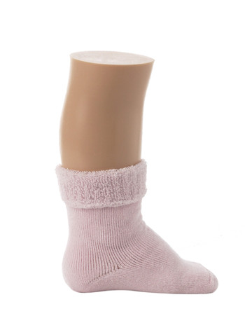 Bonnie Doon Cuffed Terry Baby Bootie pink panther