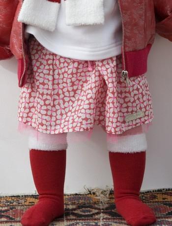 Bonnie Doon X-Mas Furry Knee High Socks strawberry