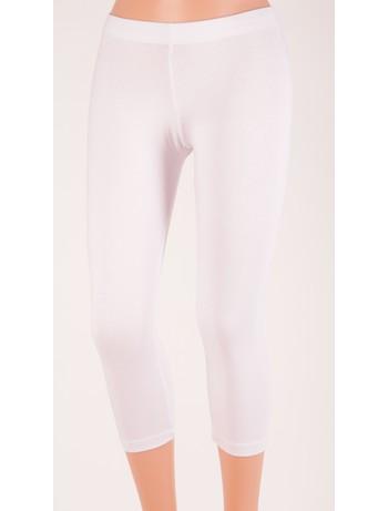 Bonnie Doon Slim Fit Basic Capri white