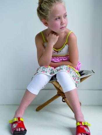 Bonnie Doon Slim Fit Basic Children's Capri white