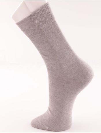 Bonnie Doon Cotton Comfort Socks light grey heather