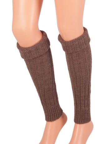 Bonnie Doon Sleever Arm Warmers dark brown heather