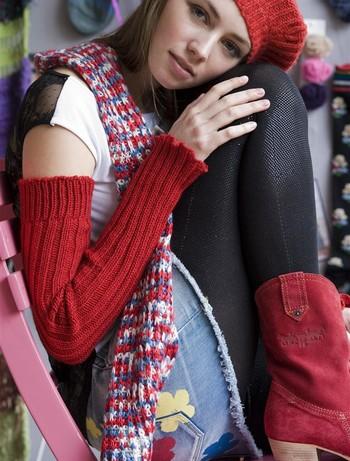 Bonnie Doon Sleever Arm Warmers strawberry