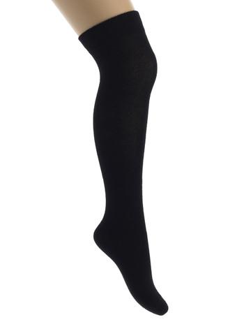 Bonnie Doon Cotton Children's Over the Knee Socks black