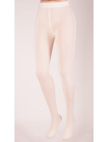 Bonnie Doon Plain Knit Cotton Tights ivory