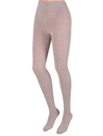 Bonnie Doon Plain Knit Cotton Tights light grey heather