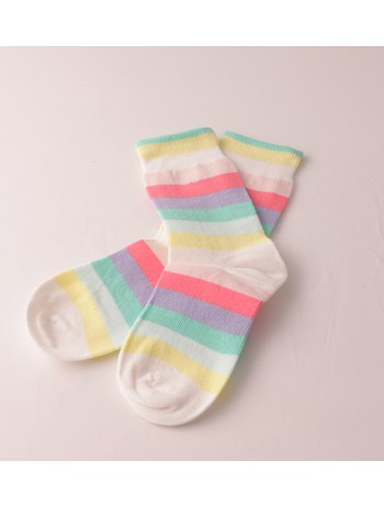 Bonnie Doon Rainbow Children's Socks off white