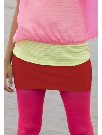 Bonnie Doon Cotton Lycra Skirt strawberry