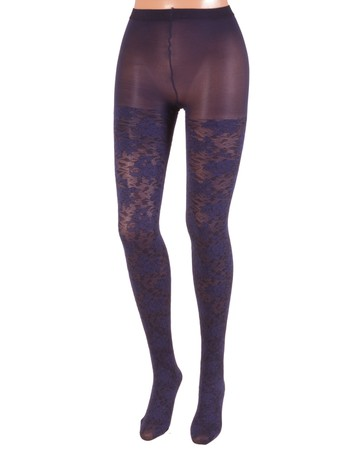 Bonnie Doon Layered Lace Tights mystery blue