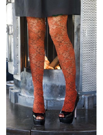 Bonnie Doon Layered Lace Tights russet
