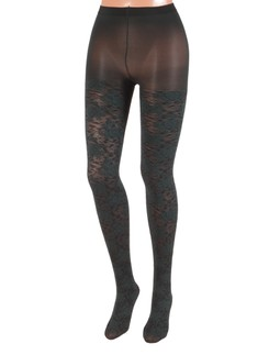 Bonnie Doon Layered Lace Tights