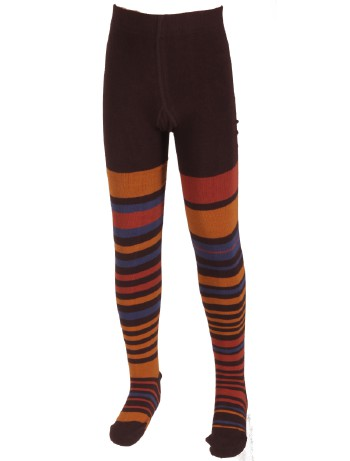 Bonnie Doon Composed Stripes Tights dark brown