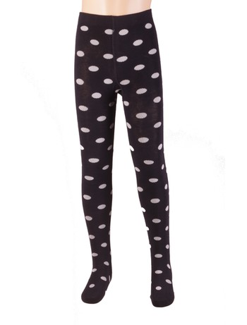 Bonnie Doon Dots Cotton Tights navy