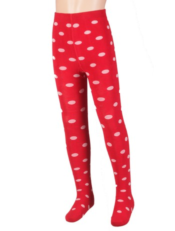 Bonnie Doon Dots Cotton Tights strawberry