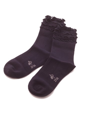 Bonnie Doon Frou Frou Children's Socks navy