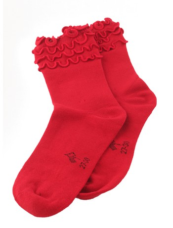 Bonnie Doon Frou Frou Children's Socks strawberry