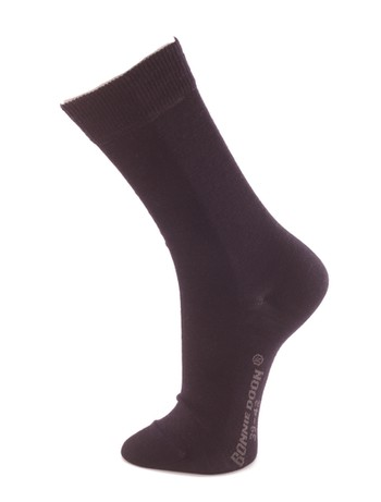 Bonnie Doon Cotton lined Wool  Socks navy