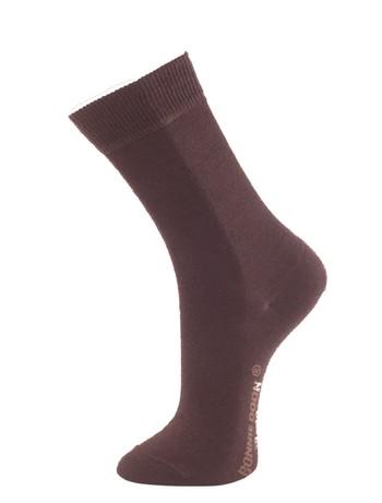 Bonnie Doon Cotton lined Wool  Socks dark brown