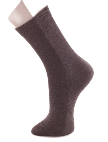 Bonnie Doon Children's Cotton Socks oxford heather