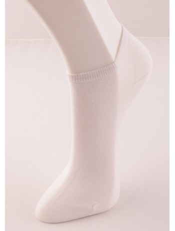 Bonnie Doon Cotton Short Sock white