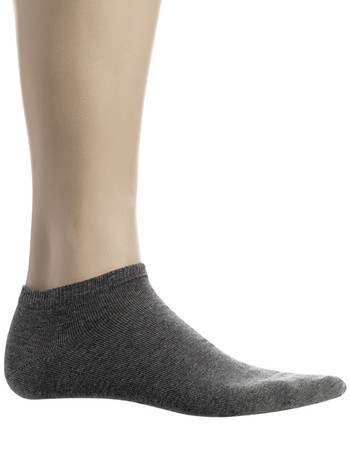 Bonnie Doon Cotton Short Socks medium grey heather