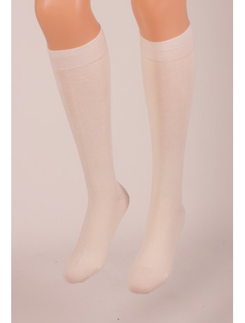 Bonnie Doon Cotton Knee High Socks ivory