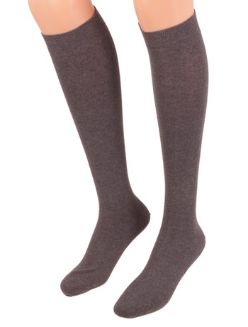 Bonnie Doon Cotton Knee High Socks oxford heather