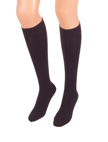 Bonnie Doon Cotton Knee High Socks navy