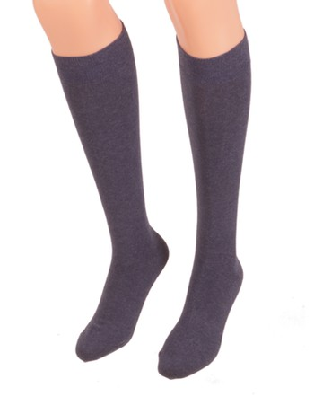 Bonnie Doon Cotton Knee High Socks navy heather