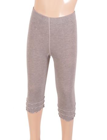 Bonnie Doon Frou Frou Capri Leggings for Children light grey heather