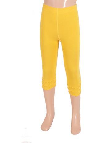 Bonnie Doon Frou Frou Capri Leggings for Children banana