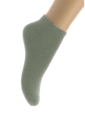 Bonnie Doon Cotton Ankle Socks for Children light grey heather