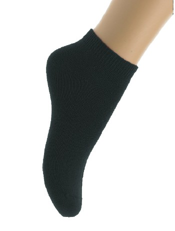 Bonnie Doon Cotton Ankle Socks for Children black