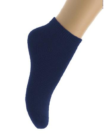 Bonnie Doon Cotton Ankle Socks for Children navy