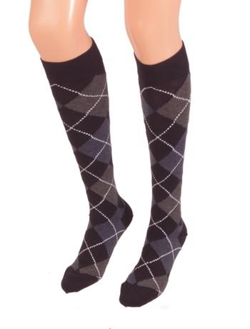 Bonnie Doon Argyle Knee High Socks navy