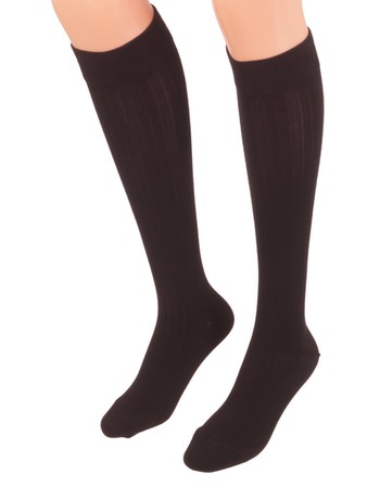 Bonnie Doon 7x1 Ribbed Knee High Socks black