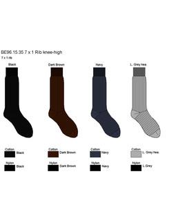 Bonnie Doon 7x1 Ribbed Knee High Socks