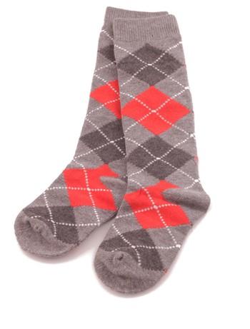 Bonnie Doon Argyle Knee High Socks for Children medium grey heather