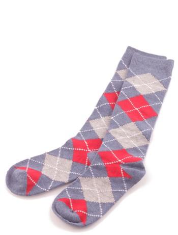 Bonnie Doon Argyle Knee High Socks for Children denim heather