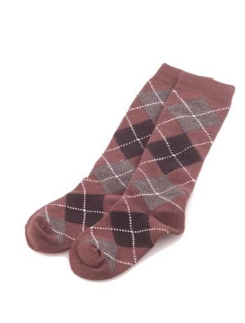Bonnie Doon Argyle Knee High Socks for Children dark brown