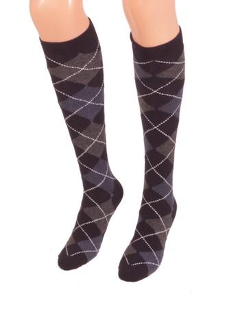 Bonnie Doon Argyle Knee High Socks for Children navy